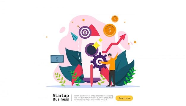 Starten Sie das Ideenkonzept Premium Vektoren