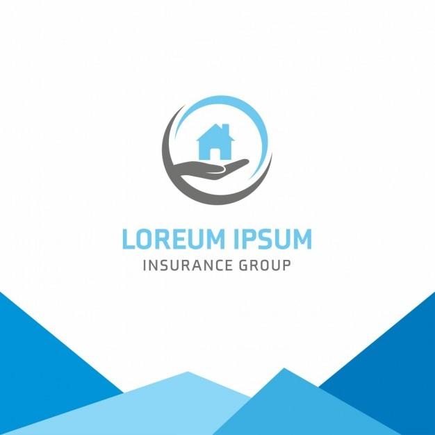 Startseite sicherheit versicherung logo Kostenlosen Vektoren