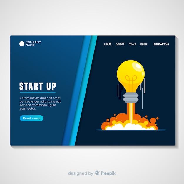 Startseitenvorlage für das starten Kostenlosen Vektoren