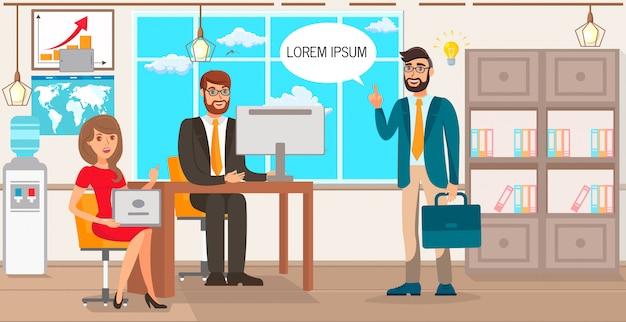 Startvorschlag geschäftsidee illustration Premium Vektoren