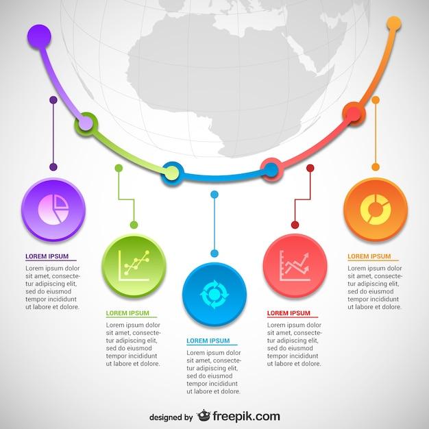 Statistik Infografiken Vorlage   Download der kostenlosen Vektor