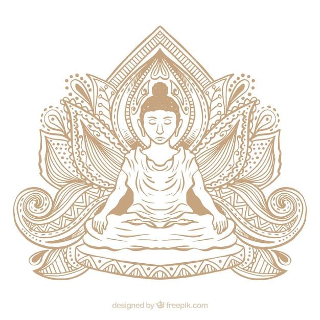 Statue von buddha hintergrund Kostenlosen Vektoren