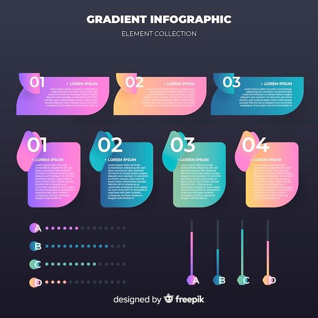Steigung infographik elemente Kostenlosen Vektoren