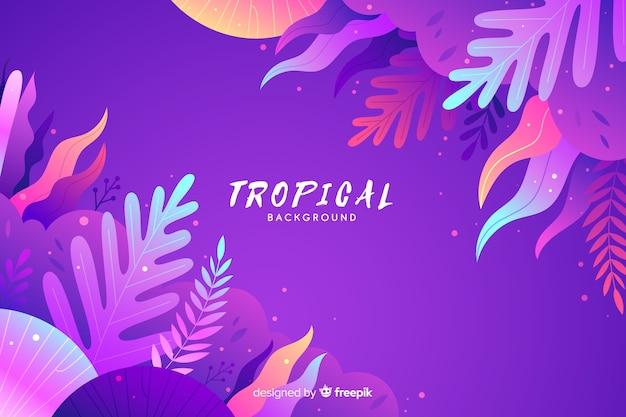 Steigung tropischen hintergrund Kostenlosen Vektoren
