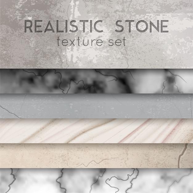 Stein textur proben realistische set Kostenlosen Vektoren