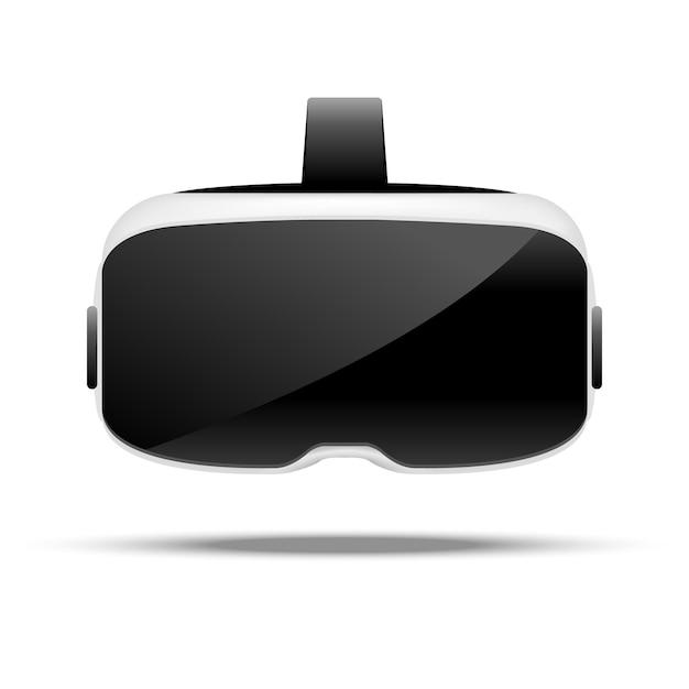 Stereoskopische vr-illustration. virtuelle digitale cyberspace-technologie. innovationsgerät. Premium Vektoren