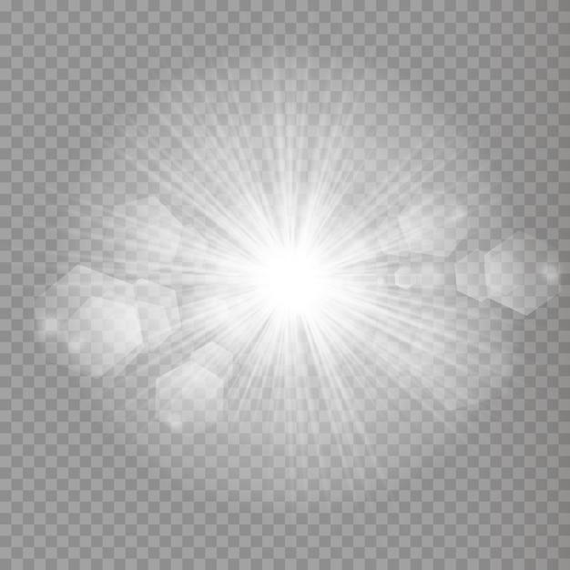 Sterne auf einem transparenten weißen und grauen hintergrund auf einem schachbrett. Premium Vektoren