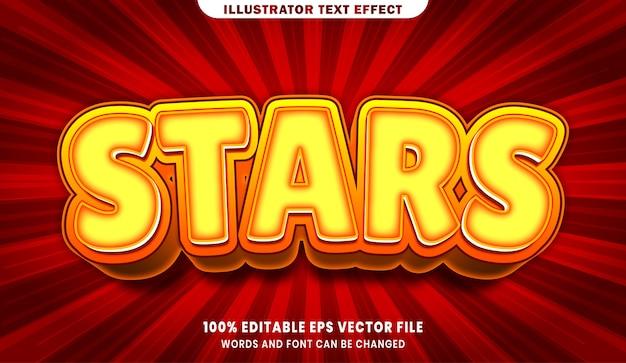 Sterne bearbeitbarer textstil-effekt Premium Vektoren