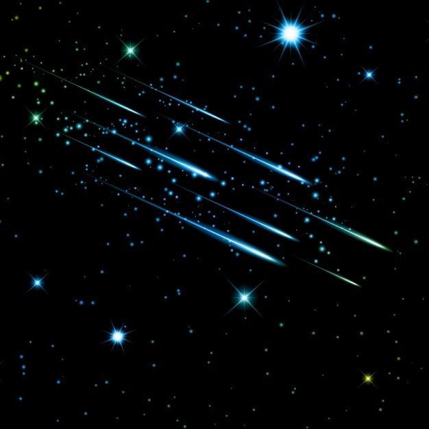 Sternenhimmel mit sternschnuppen Kostenlosen Vektoren
