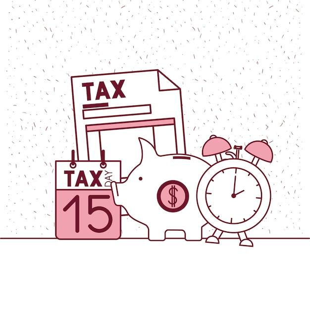 Steuer Tag gesetzt Symbole   Download der Premium Vektor