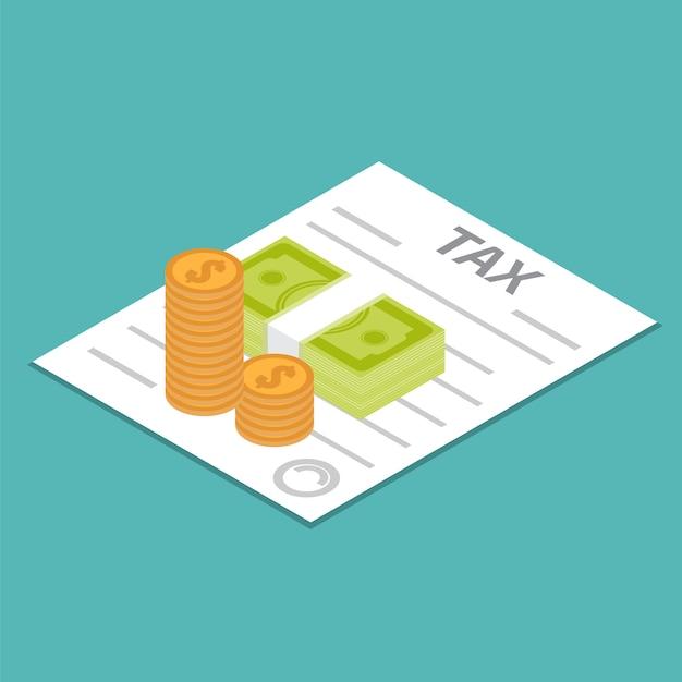 Steuererstattung-symbol Premium Vektoren