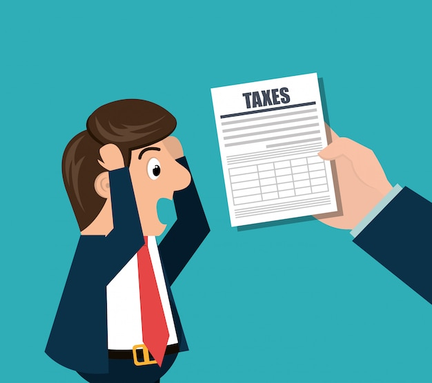 Steuerzeit design Premium Vektoren