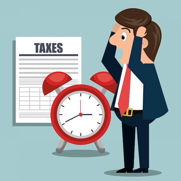 Steuerzeit Kostenlosen Vektoren