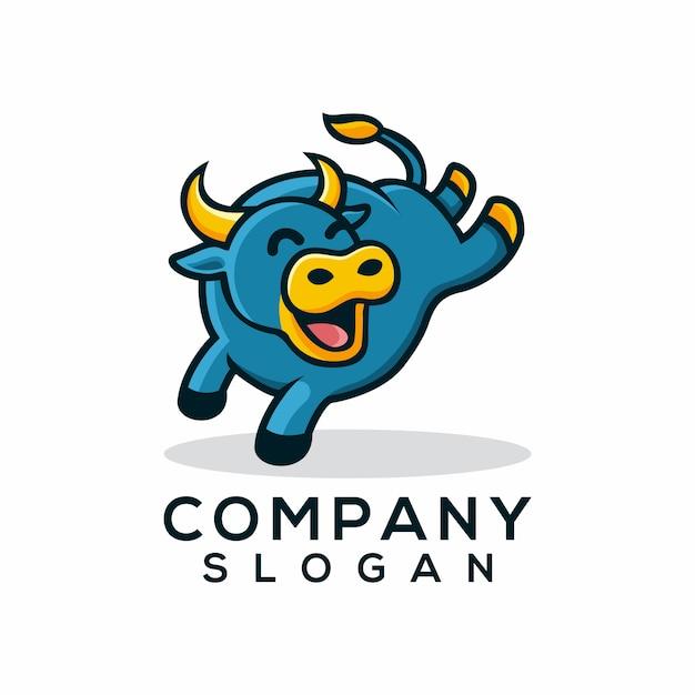 Stier-logo Premium Vektoren
