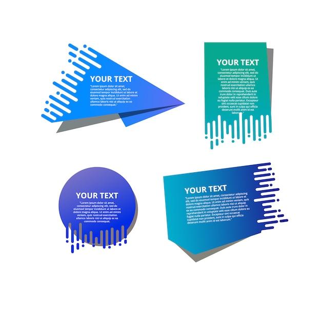 Stil textvorlagen beschleunigen origami für banner Premium Vektoren
