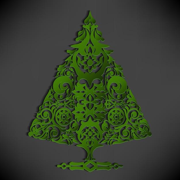 stilisierte papier weihnachtsbaum download der. Black Bedroom Furniture Sets. Home Design Ideas