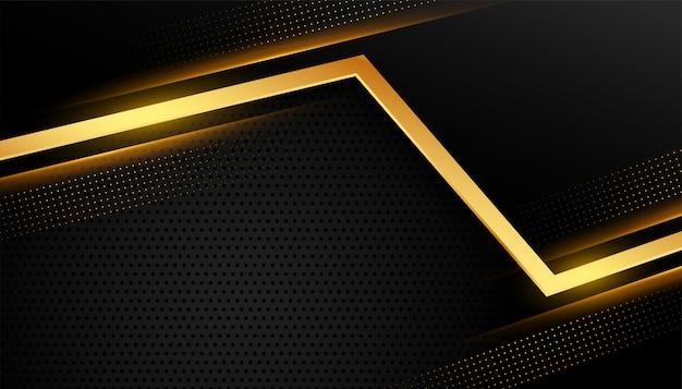 Stilvolle goldene abstrakte linie auf schwarz Kostenlosen Vektoren