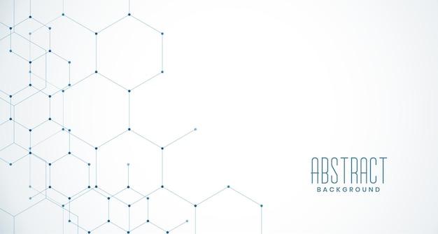 Stilvolle hexagonale netzverbindung Kostenlosen Vektoren