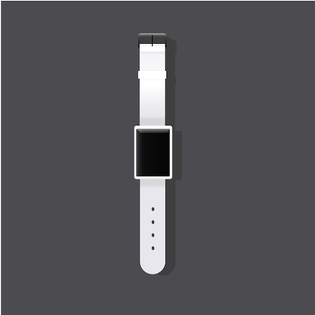 Stilvolle ikonenvektor-vektorillustration der armbanduhr Kostenlosen Vektoren