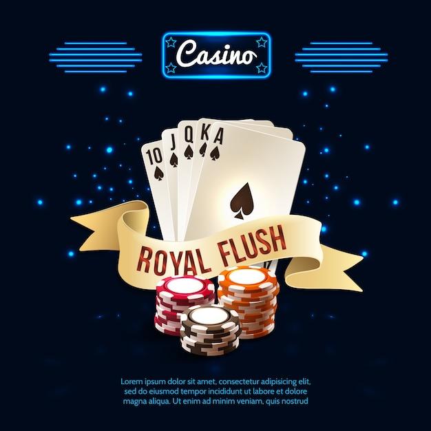 Stilvolle kasino-realistische zusammensetzung Kostenlosen Vektoren