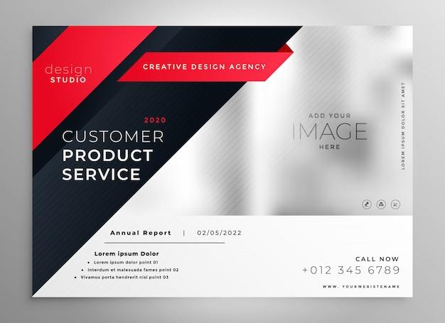 Stilvolle rote moderne broschürenschablone Kostenlosen Vektoren