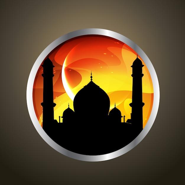 Stilvolle vektor ramadan kareem illustration Kostenlosen Vektoren
