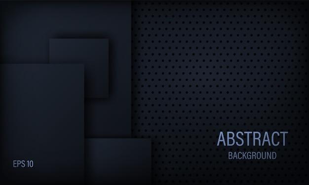 Stilvoller abstrakter hintergrund in schwarzweiss mit quadratischen elementen. Premium Vektoren