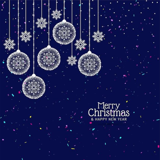 Stilvoller dekorativer hintergrund der frohen weihnachten Kostenlosen Vektoren
