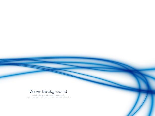 Stilvoller eleganter blauer wellenhintergrund Kostenlosen Vektoren