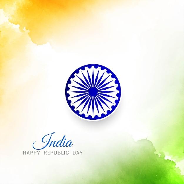 Stilvoller eleganter hintergrund der indischen flagge Kostenlosen Vektoren