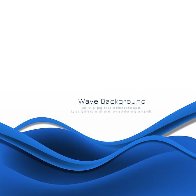 Stilvoller hintergrund der abstrakten blauen welle Kostenlosen Vektoren