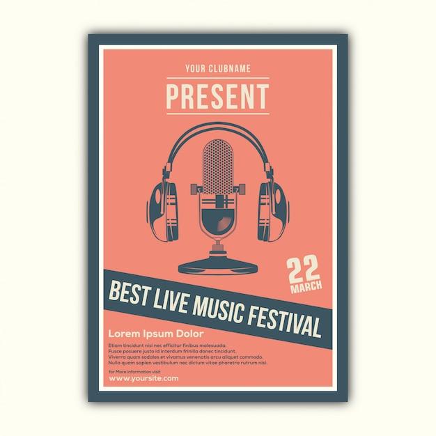 Stilvoller musik-plakatentwurf Premium Vektoren