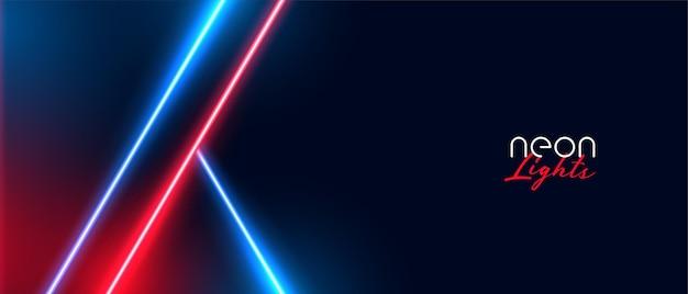 Stilvoller neonlichthintergrund mit roter und blauer farbe Kostenlosen Vektoren