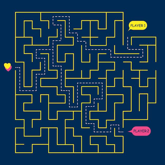 Stock vektorgrafik runde labyrinth labyrinth, Premium Vektoren