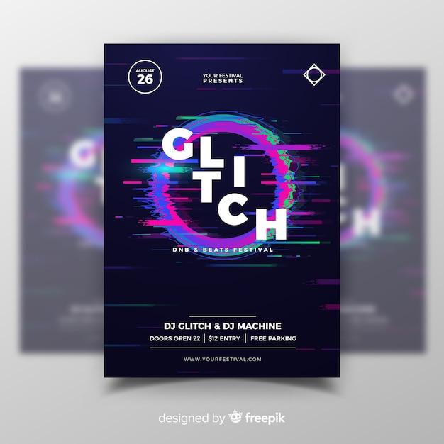Störschub-musikfestival-plakatschablone Kostenlosen Vektoren