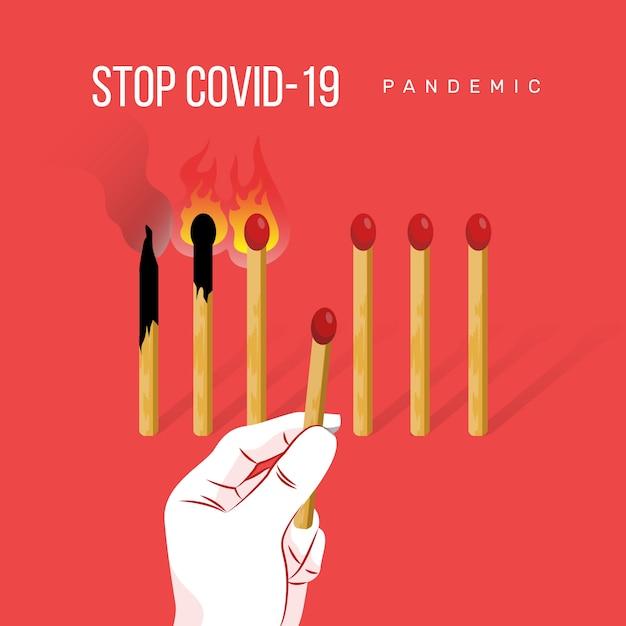 Stop coronavirus entspricht konzept Kostenlosen Vektoren