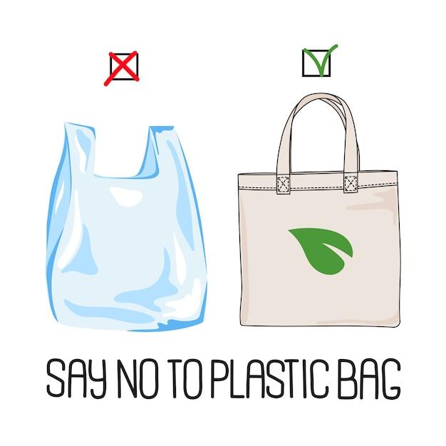 Stop plastic globaler ökologischer problemvektor Premium Vektoren