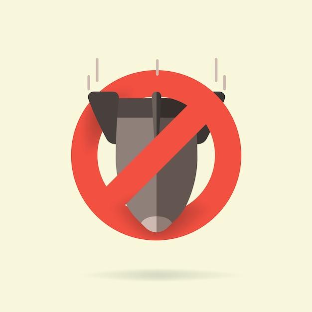 Stoppen sie atomwaffen, verbieten sie das bombensymbol Premium Vektoren