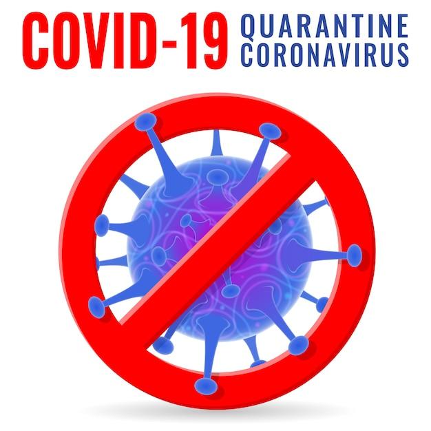 Stoppen sie das 2019-ncov covid-19 coronavirus Premium Vektoren