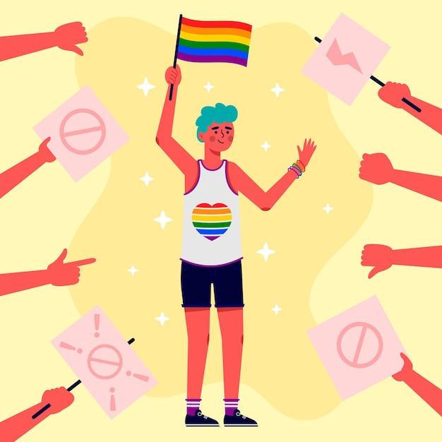 Stoppen sie das homophobie-konzept Kostenlosen Vektoren