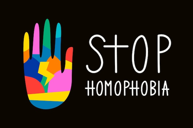 Stoppen sie den homophobie-stil Kostenlosen Vektoren