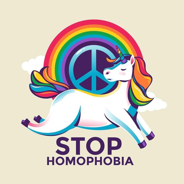 Stoppen sie homophobie Kostenlosen Vektoren
