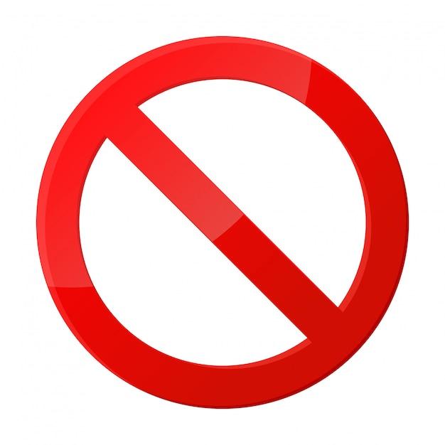 Stoppschild-symbol benachrichtigungen, die nichts tun. Premium Vektoren