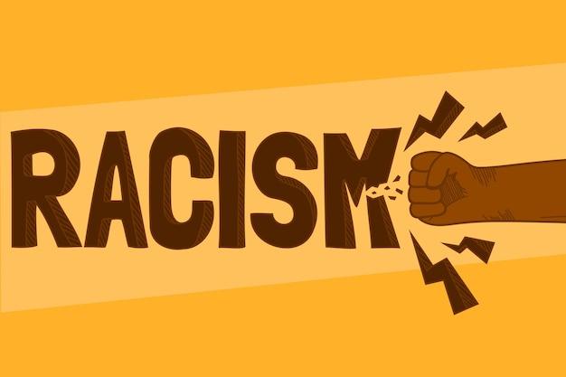 Stoppt das rassismuskonzept Kostenlosen Vektoren