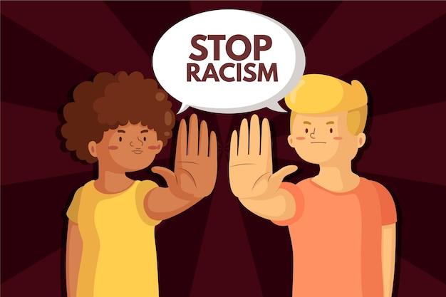 Stoppt rassismus Kostenlosen Vektoren