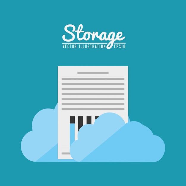 Storage center design Kostenlosen Vektoren