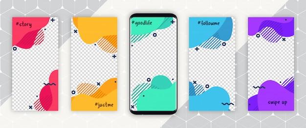 Story-vorlage für social media Premium Vektoren