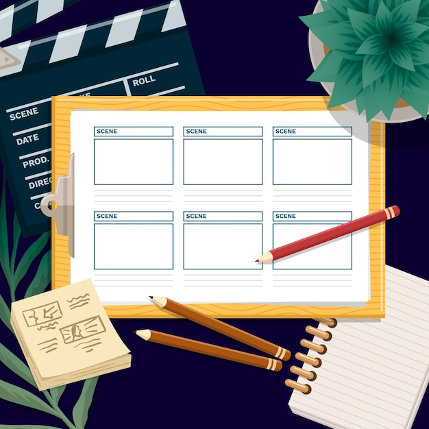 Storyboard-konzept Premium Vektoren
