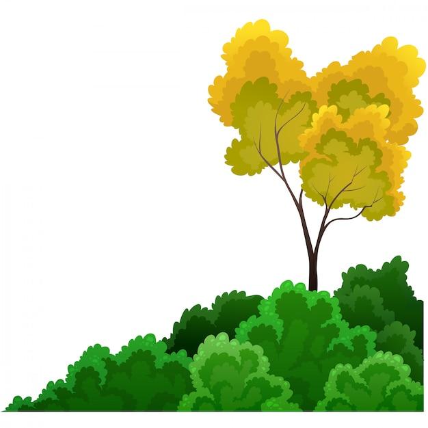 Sträucher und bäume Premium Vektoren