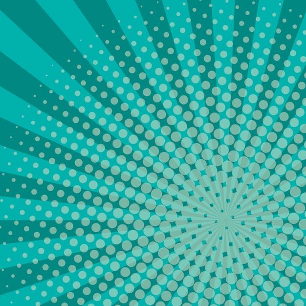 Strahlen halbtonhintergrund blaue farbe Premium Vektoren